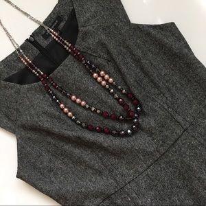 Banana Republic Charcoal Gray Tweed Sheath Dress